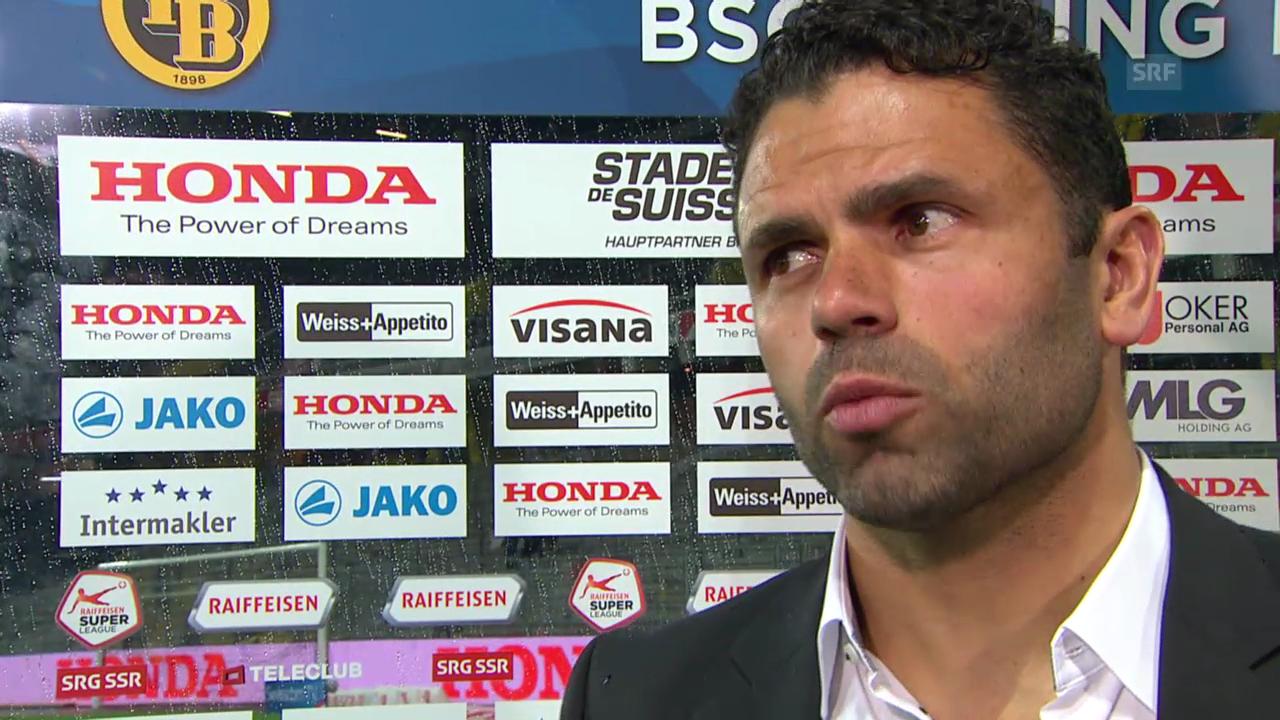 Fussball: Super League, YB - Aarau, Interview mit Uli Forte