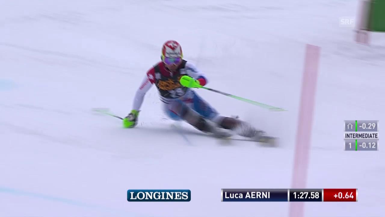 Ski: Weltcup-Slalom in Kranjska Gora, Luca Aerni 2. Lauf
