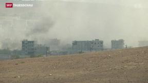 Video «Erbitterter Kampf um Kobane hält an» abspielen