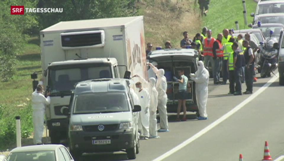 Dutzende Leichen auf Schlepper-LKW in Österreich gefunden