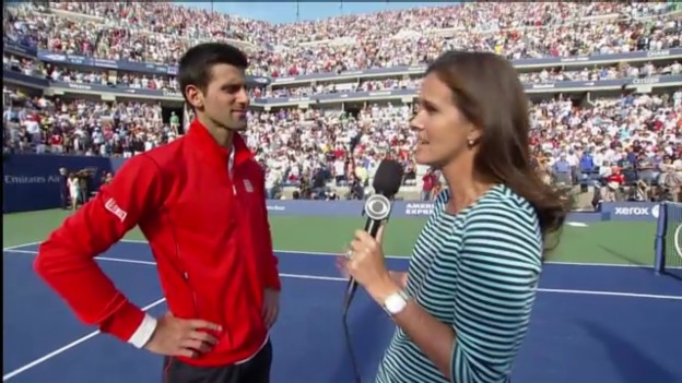 Video «Platzinterview mit Djokovic («sportlive»)» abspielen