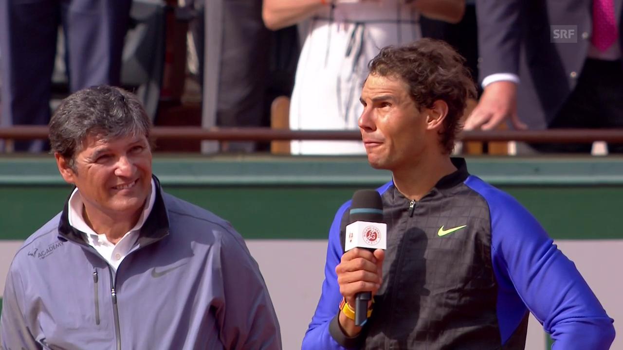 Nadals Siegrede: «Danke allen für alles»