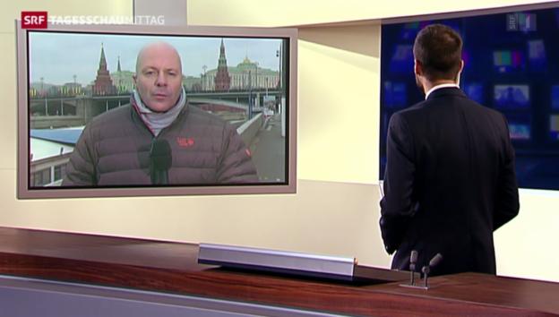Video «SRF-Korrespondent Christoph Wanner zu Putin und die Ukraine-Krise» abspielen
