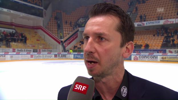 Video «SCB-Coach Lars Leuenberger im Interview nach der Niederlage in Lugano» abspielen