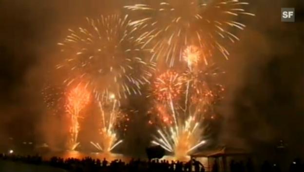 Video «Royales Feuerwerk in Monaco (unkommentiertes Video)» abspielen