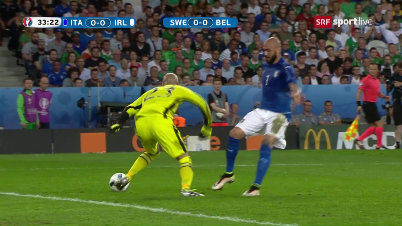 Irlands Goalie trickst