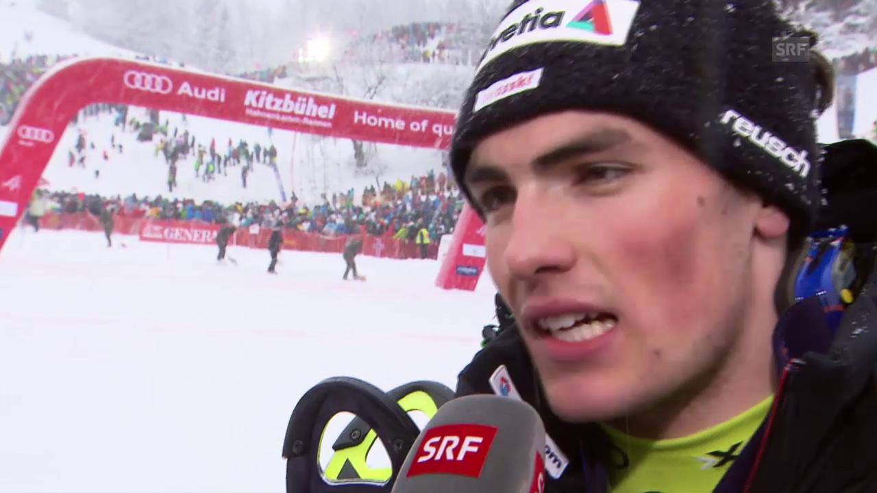 Ski alpin: Weltcup Männer, Slalom Kitzbühel, Interview Daniel Yule
