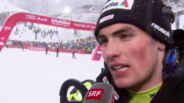 Video «Ski alpin: Weltcup Männer, Slalom Kitzbühel, Interview Daniel Yule» abspielen