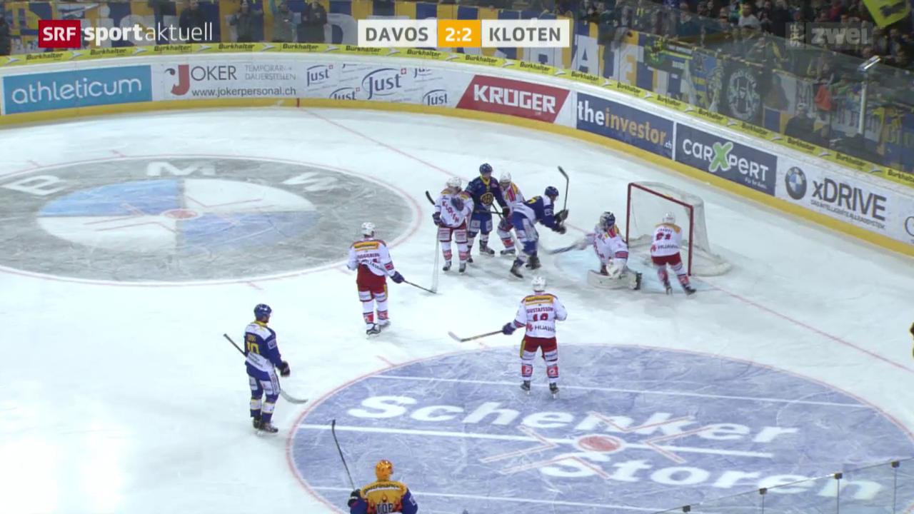 Eishockey: NLA, Davos - Kloten