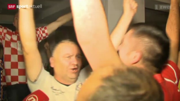 Video «Tennis: Kroatische Fans feiern Cilic' Sieg» abspielen