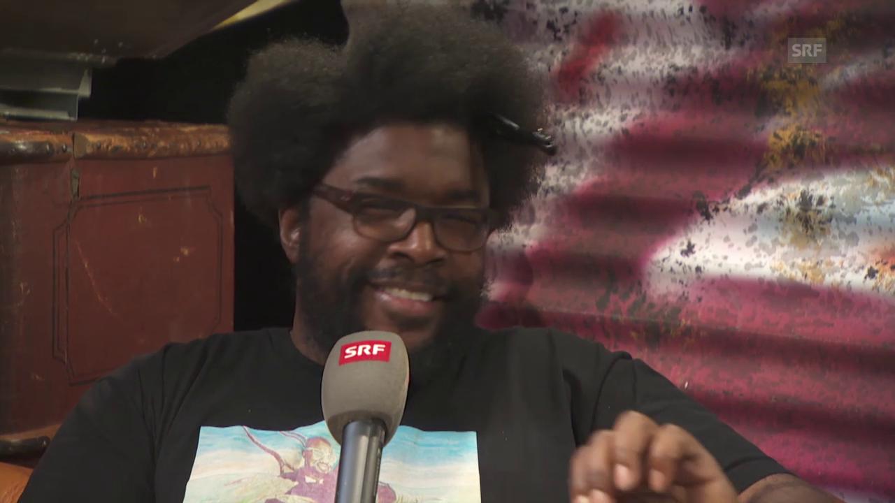 The Roots-Drummer Questlove im Interview mit SRF-Moderator Pablo Vögtli