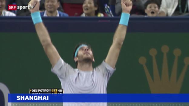 Video «Del Potro schlägt Nadal und trifft im Final auf Djokovic» abspielen