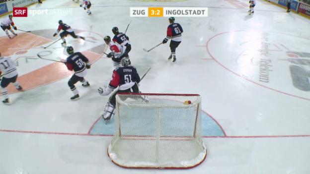 Video «Eishockey: CHL, Zug - Ingolstadt» abspielen