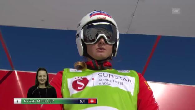 Video «Skicross: Weltcup Arosa, Kleiner Final mit Müller und Lüdi («sportlive», 7.3.2014)» abspielen