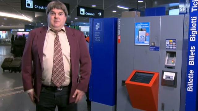 Burri über SBB-Billettautomaten