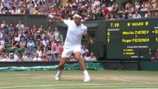 Video «Federers Volley-Passierball von der Grundlinie» abspielen