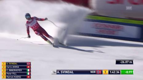 Video «Ski Alpin: Abfahrt Beaver Creek, Fahrt Svindal» abspielen