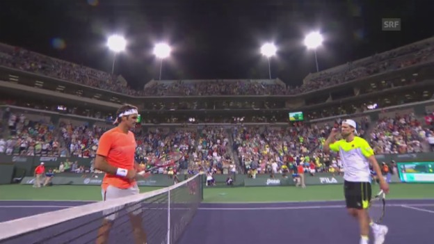 Video «Tennis: Indian Wells, Federer - Seppi» abspielen