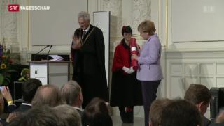 Video «Angela Merkel erhält Ehrendoktor der Uni Bern» abspielen