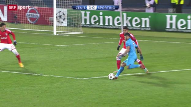 Video «Zusammenfassung Zenit-Benfica» abspielen