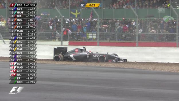 Video «Formel 1: Schlussphase Qualifying GP Silverstone» abspielen