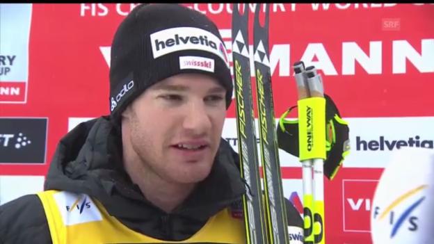 Video «Langlauf: Siegerinterview mit Dario Cologna (englisch)» abspielen