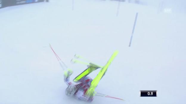 Video «Akrobatisch: Lizeroux' Purzelbaum im Slalom» abspielen