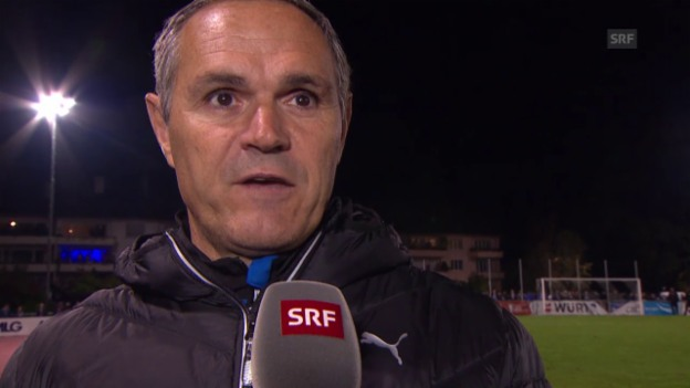 Video «Fussball: Schweizer Cup, Pierluigi Tami im Interview» abspielen