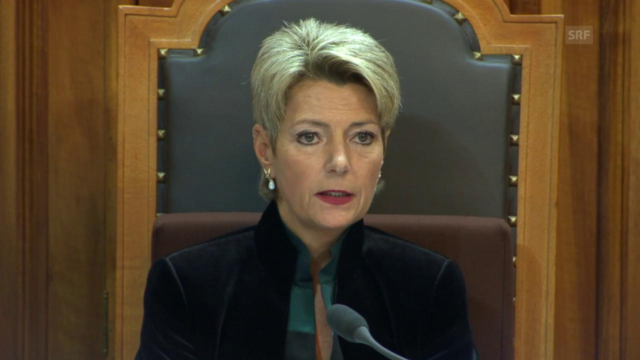 Karin Keller-Sutter zur Beschränkung der Freiheit