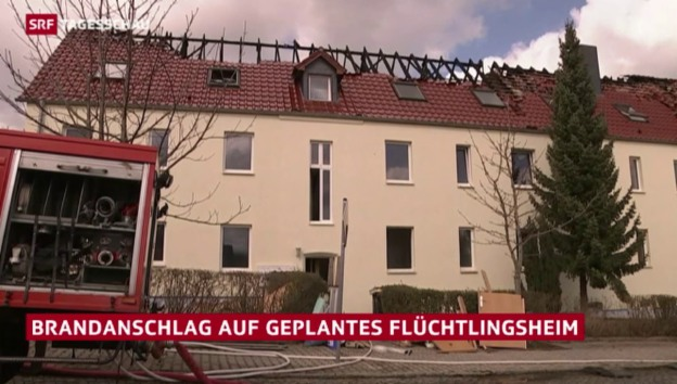 Video «Brandanschlag auf Flüchtlingsheim» abspielen