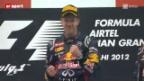 Video «Formel 1: GP von Indien» abspielen