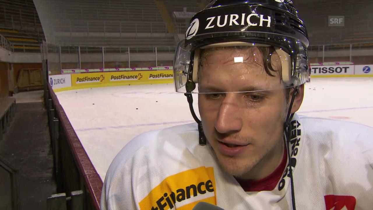 Eishockey, WM-Vorbereitung, Interview mit Damien Brunner