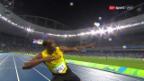 Video «Usain Bolt doppelt über 200 m nach» abspielen