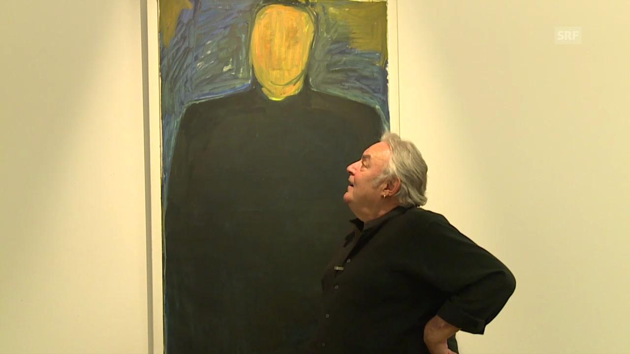 Mathias Gnädinger und sein Porträt ohne Gesicht