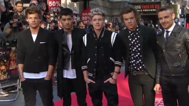 Video «One Direction: kreischende Girls und Ausnahmezustand in London» abspielen