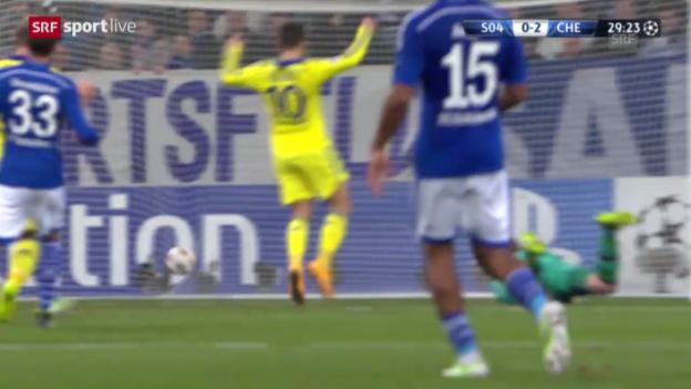 Video «Fussball: CL, Schalke - Chelsea» abspielen
