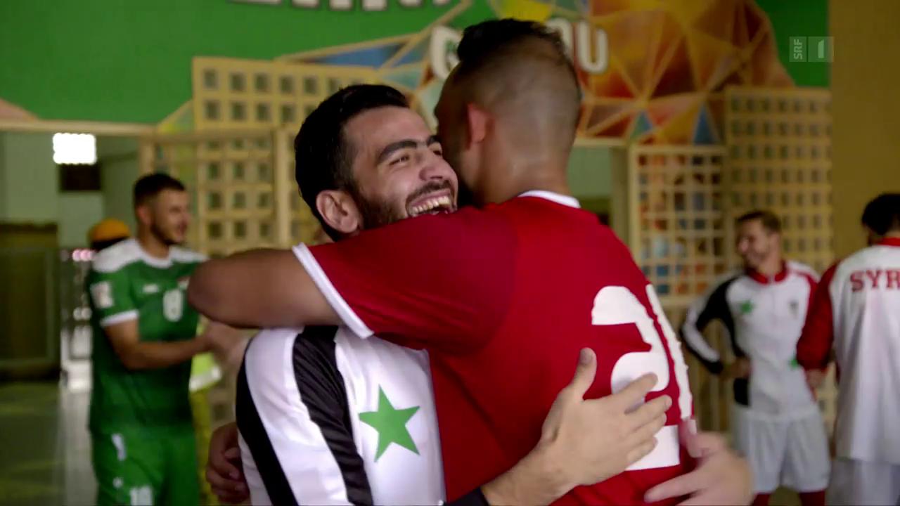 Syriens Fussball-Team verdrängt den Krieg