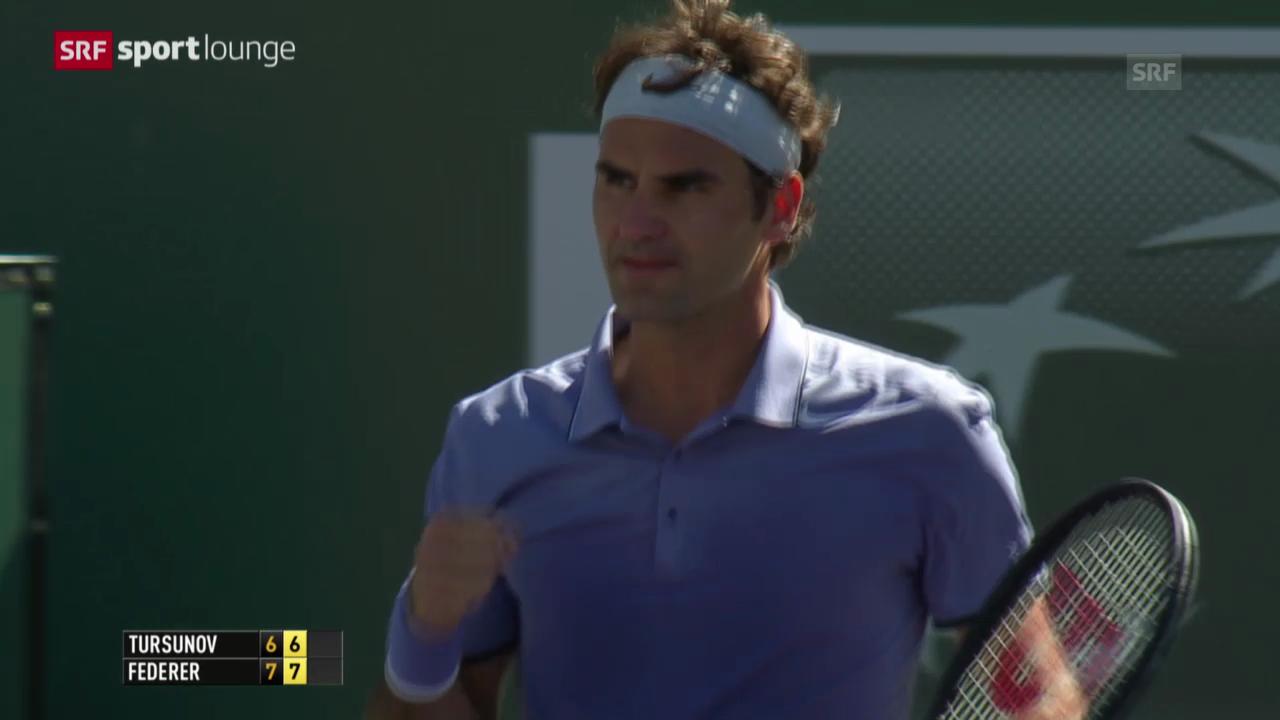 Tennis: Matchball Federer - Tursunow («sportlounge», 10.03.2014)