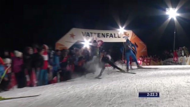Video «Langlauf: Tour de Ski - Sprint in Val Müstair» abspielen