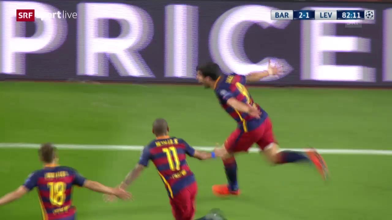Fussball: CL, Barcelona-Leverkusen