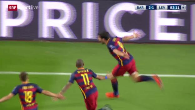 Video «Fussball: CL, Barcelona-Leverkusen» abspielen