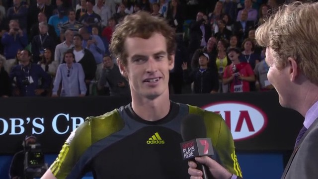 Tennis: Platzinterview mit Andy Murray