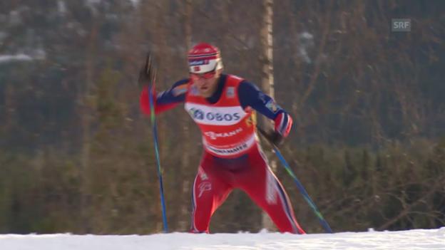 Video «Langlauf: Sundby setzt sich entscheidend ab» abspielen