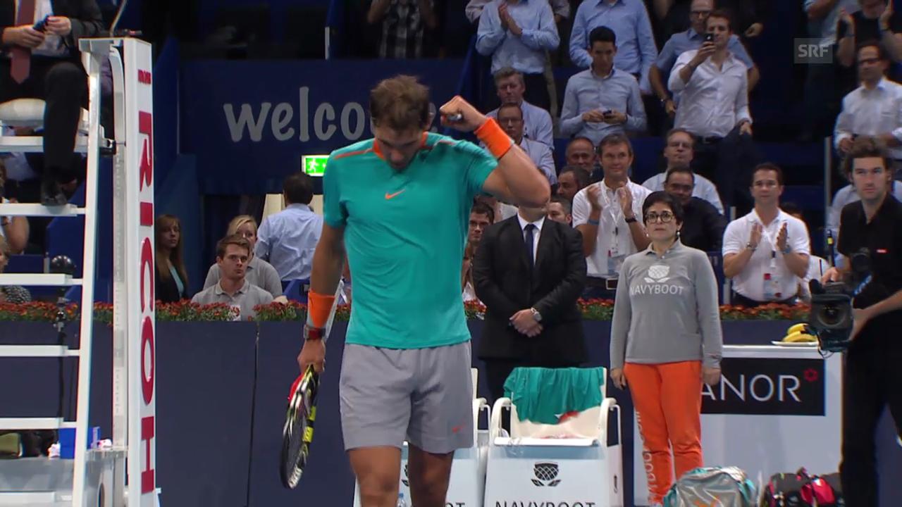 Tennis: Swiss Indoors Basel, Nadal - Bolelli: Die besten Ballwechsel