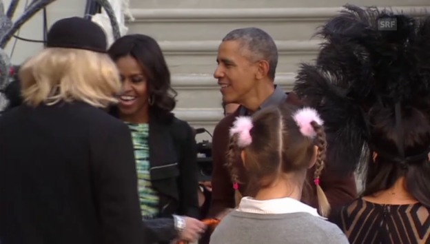 Video «Halloween bei den Obamas (unkomm. Video)» abspielen