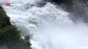 Video «Gefährliches Naturspektakel entlang des Rheins» abspielen