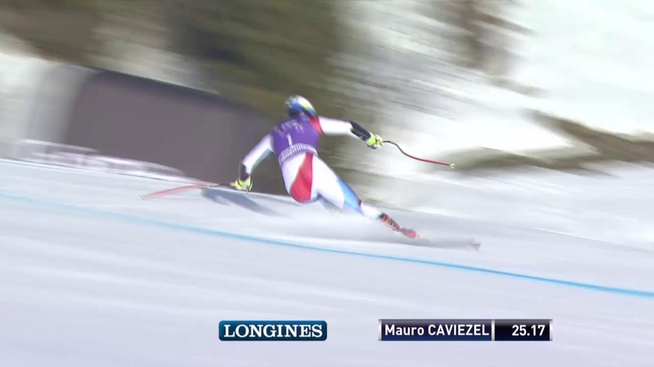 Ski: Super-G Männer in Méribel, Fahrt von Mauro Caviezel