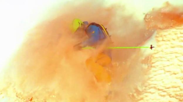 Video «Falquet-Brüder färben Schnee ein» abspielen