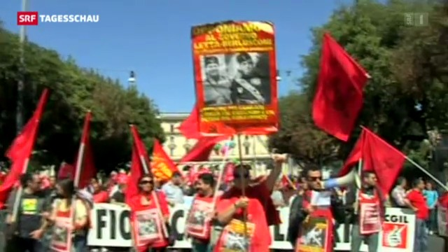 Italien: Gewerkschaften rufen zur Demo