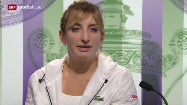 Video «Tennis: Wimbledon, Bacsinszky - Soler-Espinosa» abspielen